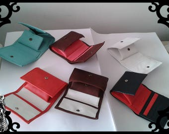 WEARING coins/cards and Bills fully leather - small leather