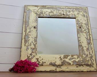 Salvaged Barnwood Farmhouse Mirror