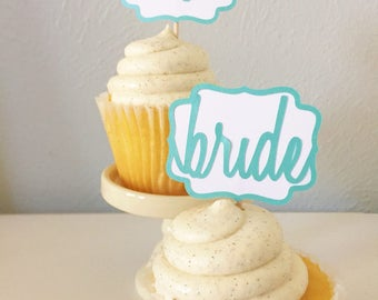 Wedding Plaque Cupcake Toppers