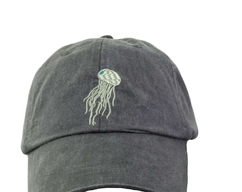 Jellyfish Hat  Baseball Hat. Cool Mesh Lining & Adjustable Strap. 33 Colors Avail. HER-LP101