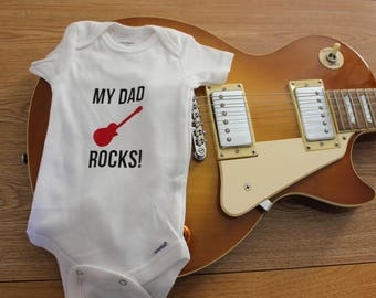 My Dad Rocks! Baby Outfit