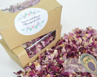 Personalised Biodegrable Dried Flower Confetti Pack - choice of petals