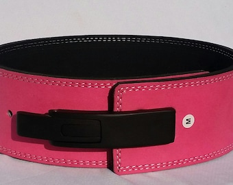 LGS Suede 10mm Love Affair Pink Weightlifting Belt / Gives You Fame