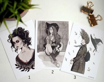 Postcards Inktober | A6 Art prints