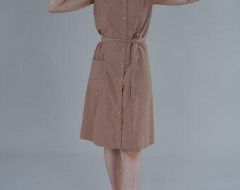Vintage Taupe Dress
