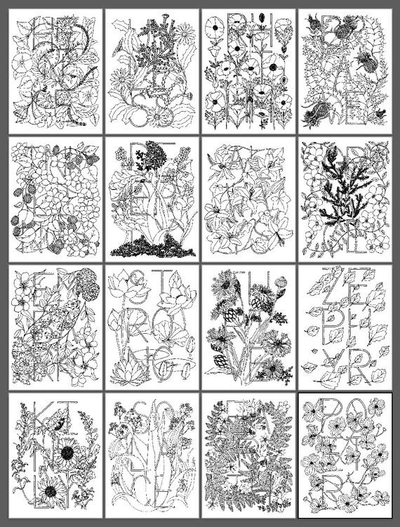 Botanical Inklings Pastels Coloring Book