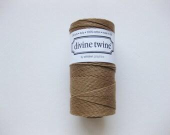 Full Spool - Solid BROWN DIVINE TWINE - Brown Bakers Twine (240 yards)