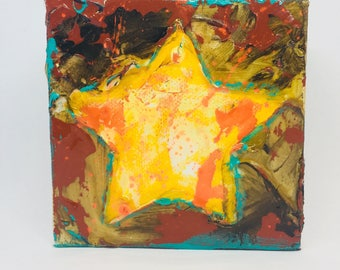Yellow Star Original Painting
