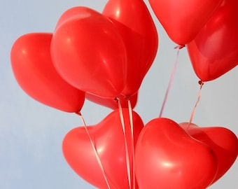 10pcs/lot 10 Inch Red Love Heart Latex Balloons Inflatable Balon Wedding Decoration Party Air Ball Happy Birthday Party Supplies