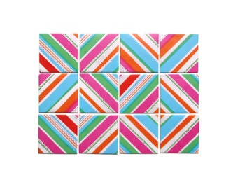 Colorful Stripes Mini Stationery Set