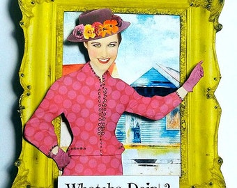Whatcha Doin' 3-D Paper Art Doll (Collection: Frame of Mind)