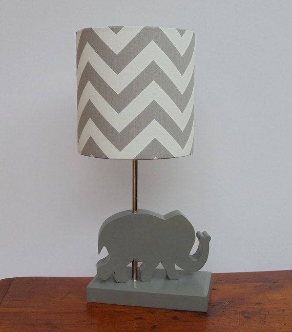 Medium greywhite chevron drum lamp shade nursery aloadofball
