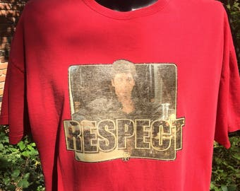 90s Scarface clothing company red cotton t-shirt sz xxl RESPECT spellout graphic decal tee al pacino gangster movie