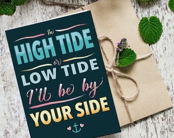In High Tide or Low Tide - 5x7 Greeting Card