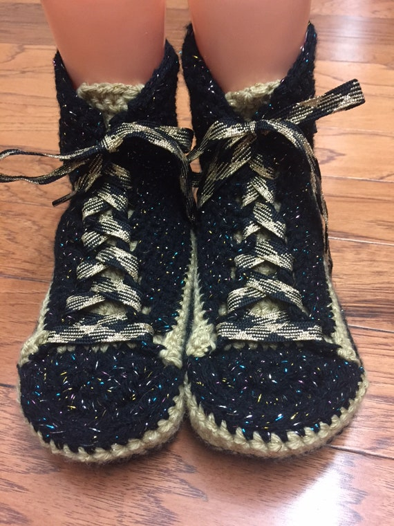 converse 8 tennis converse high sneaker shoe bling slippers Womens black Converse 10 converse converse crocheted slippers gold inspired top xqgtwTAZP