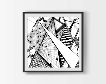 Abstract Print, Abstract Wall Art, Modern Decor, Modern Wall Art, Modern Artwork, Black And White Decor, Instant Download, Digital Download