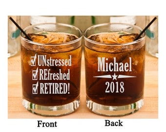 Retirement Gifts, Retirement Gift for Him, Retirement for Her, Personalized Retirement Gift, Retirement Glass, Retirement Party, Retired