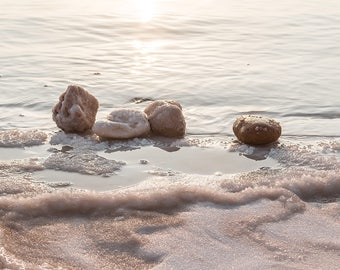 Israel Photography, The Dead Sea, Nature Photography, Fine Art Photography, Four Saulty Stones, Dead Sea Israel Photo