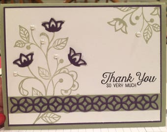 Thank you so very much greeting card
