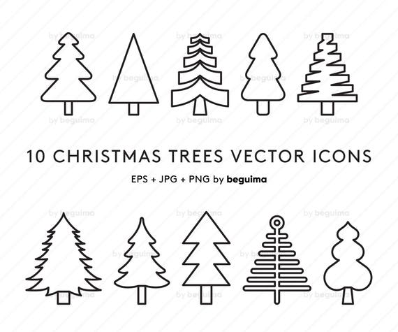 Christmas Trees Clip Art Xmas Clipart Vector Nature