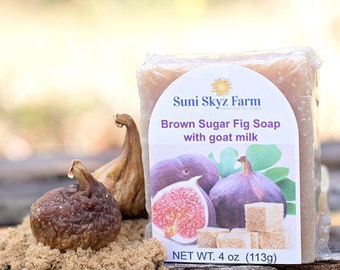 Brown Sugar Fig Soap - Brown Sugar Fig Goat Milk Soap - Brown Sugar Soap - Fig Soap - Handmade Brown Sugar and Fig Goat Milk Soap
