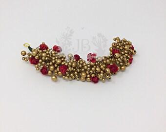 Hair ornament, Hair Brooch,veni,poolajada/poolajadai, flower Tiara,flowers hair clip,Hair bun - Parties, Engagement, Weddings, Birthdays etc