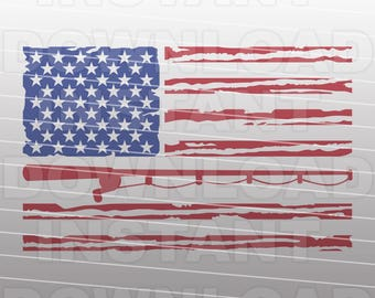 Patriotic Flag Fisherman SVG File,USA Flag svg,Fishing svg,Fishing Pole svg -Vector Art Commercial & Personal Use-Cricut,Cameo,Vinyl Decal