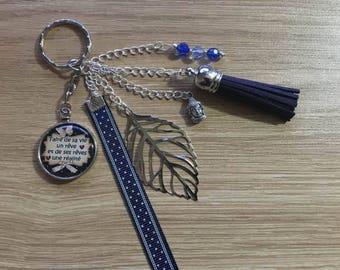 "key / jewelry bag ""make life a dream and dreams a reality"""