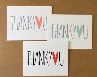 Thank You Cards Wedding, Baby Shower Thank You Cards, Bridal Shower Thank You Cards, Wedding Stationary, Thank You Card Set, Wedding Party
