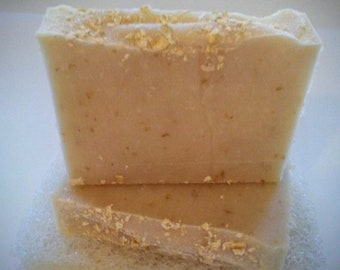 Oatmeal, Milk & Honey - All Natural Soap - Light Exfoliating - Ready To Ship