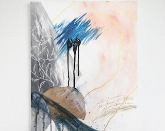Bespoke Contemporary painting / abstract art/wall art/original artwork/acrylic/modern art/framed/canvas/home decor/mixed media art/interior