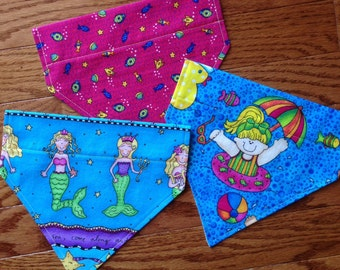 "Set of 3-Small size, Dog Scarf ""Gone To The Beach"" Collection Set, dog accessories, dog grooming, dog scarf, dogs, dog clothing, bandana"