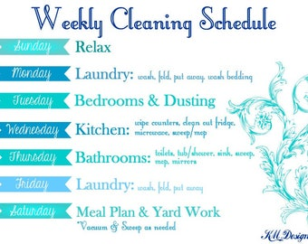 weekly cleaning charts