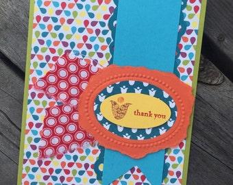 Summer Florals Handmade Thank You Card
