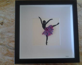 Quilling showcase frame