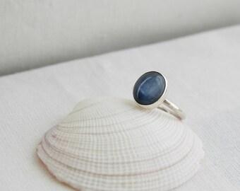 Kyanite Silver Ring, Gemstone Statement Ring