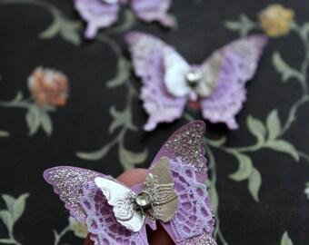 Set of 20 Handmade Elegant Butterflies Handmade Wedding Decoration/Scrapbooking /3D Butterflies/ /Party decoration