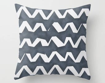 Nautical Pillow cover Zig zag Pillow Cover Decorative Pillow Cover RV Pillow Hunting Pillow
