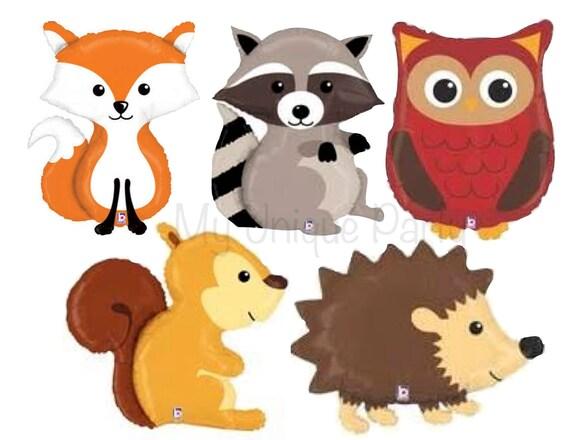 Greatest Woodland Animal Balloons Fox Balloon Raccoon Balloon Hedgehog  HV87