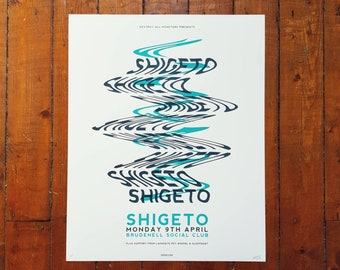 Shigeto Screen Print Gig Poster - Brudenell Social Club April 2018, Leeds Poster by OR8 DESIGN