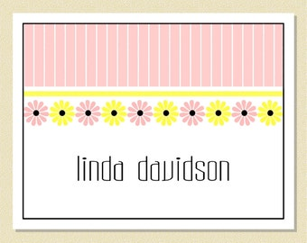 Sweet Little Flowers - Personalized Note Cards (10 Folded)