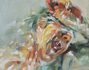 Mythology Head VII, Collaborative Oil Painting