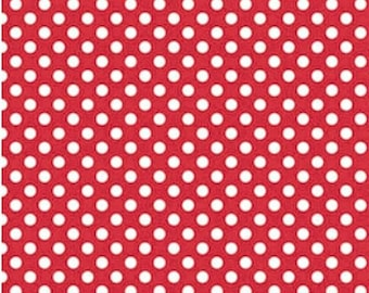Spot fabric - red and white