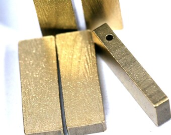 "20 pcs D245 Raw Brass  stamping 10 x 30 x 4 mm 0,39"" x ,18"" x 0,16""  1722"