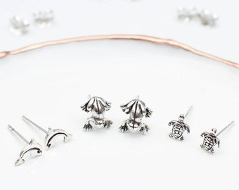 Sterling Silver Mini Creatures Earrings