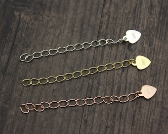 5cm Sterling Silver Extender Chain, Sterling Silver Extender, Sterling Silver Extend Chain,Gold filled/Rose gold filled extension chain