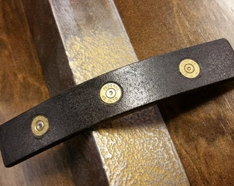 Tactical Custom Door Pull with Inlaid Brass Bullet Casings #H002 • Industrial Style Furniture Accessories by Industrial Evolution Furniture