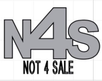 Not 4 Sale vinyl decal. Stop Human trafficking decal.
