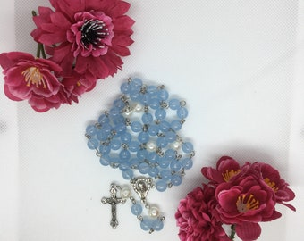 Rose Wreath with blue beads