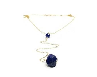 Lapis Lazuli Lariat Necklace